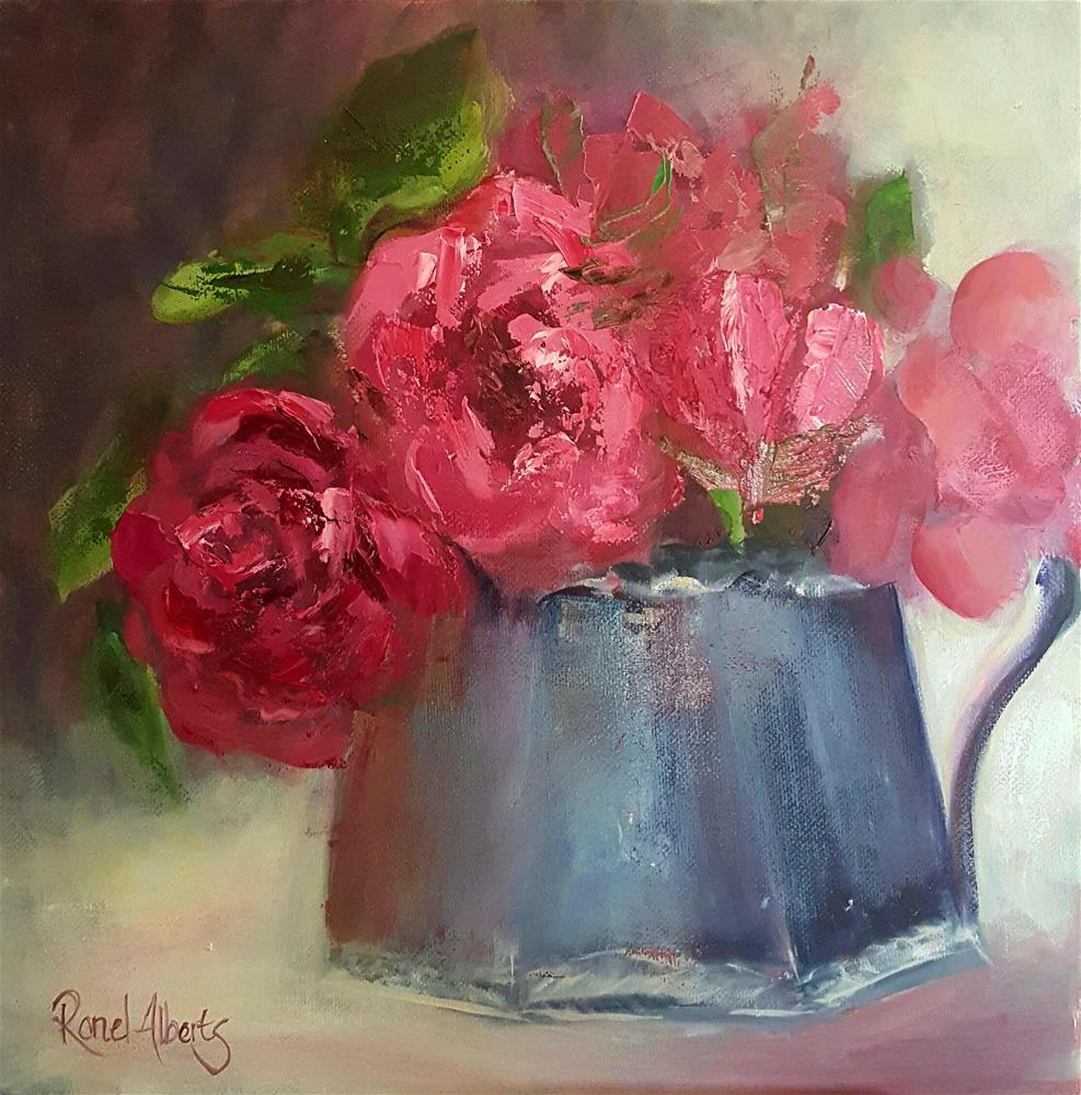 """CRIMSON DELIGHT"" original fine art by Ronel Alberts"