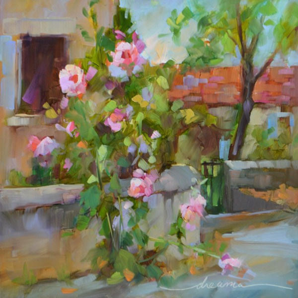 """The Romance of Paris"" original fine art by Dreama Tolle Perry"