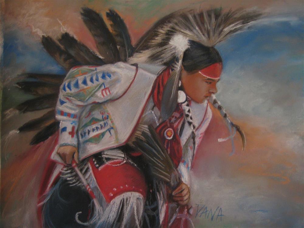 """Native American Dancer"" original fine art by Dana Lombardo"