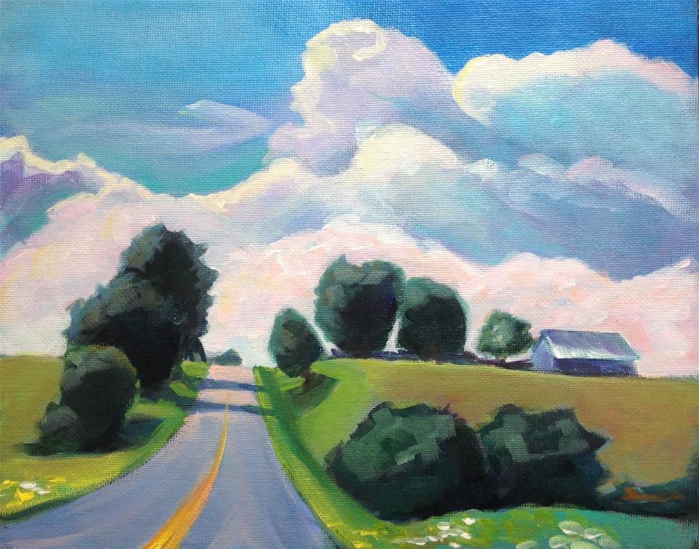 """Kentucky Road"" original fine art by Susan Suraci"