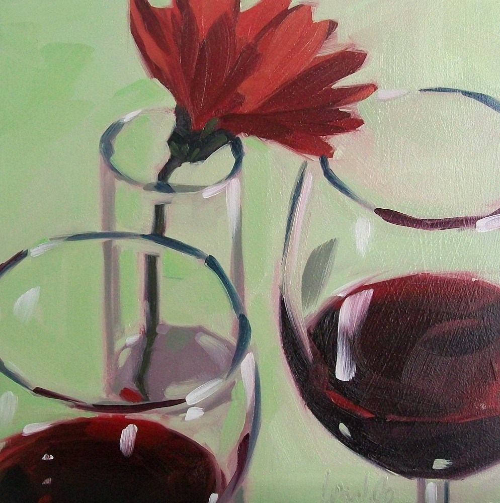 """Wino daisy 7"" original fine art by Brandi Bowman"