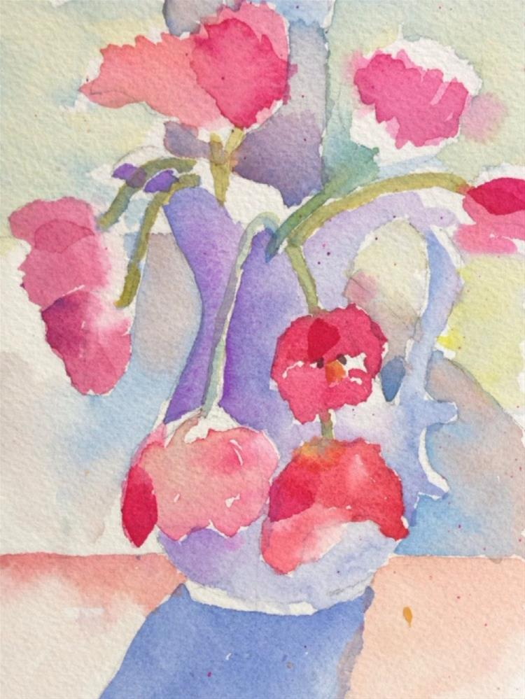 """Impressionist Tulips"" original fine art by Maria Peagler"