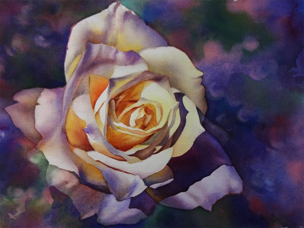 """Sunny Rose"" original fine art by Arena Shawn"