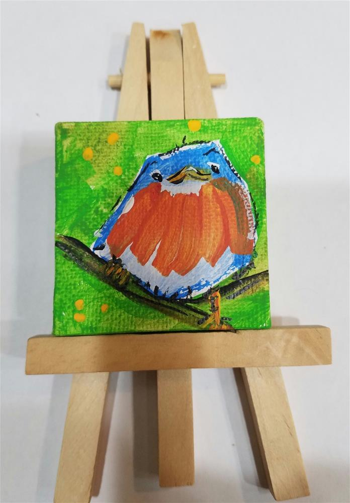 """Itty Bitty Robin #655"" original fine art by Terri Einer"