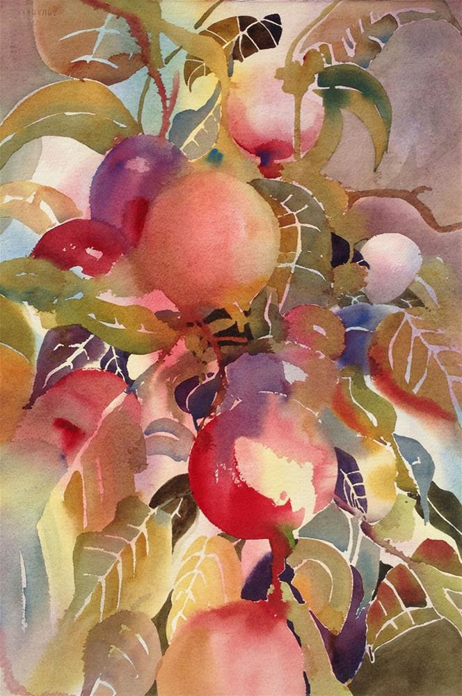 """Luscious Fruit"" original fine art by Julie Crouch"