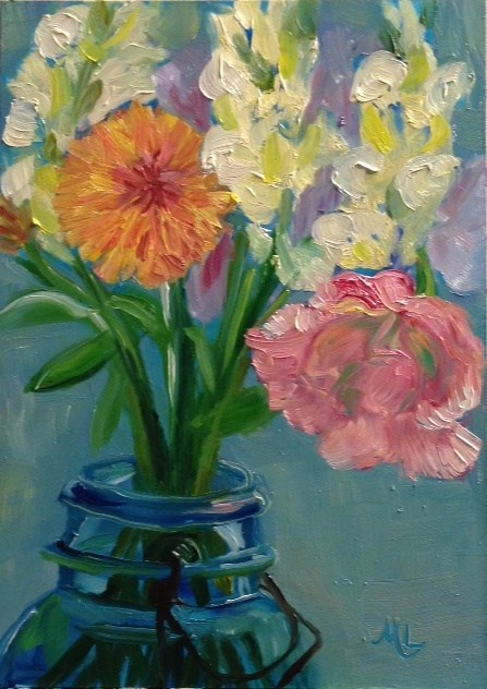 """Fresh Flowers"" original fine art by Marjie Laizure"