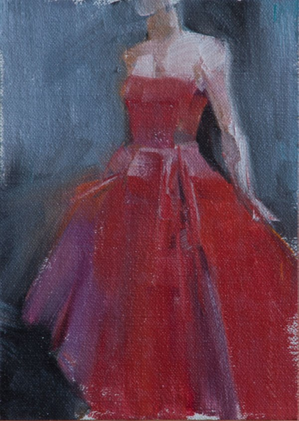 """Red"" original fine art by Patricia Canney"