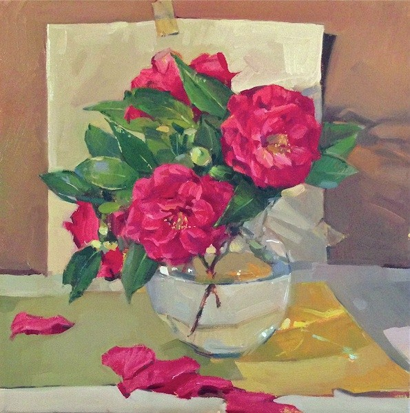 """Bountiful Camellias"" original fine art by Sarah Sedwick"