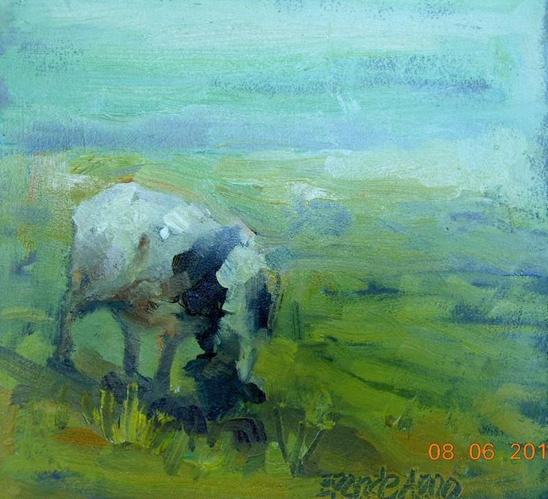 """Sheep # 3"" original fine art by Brande Arno"