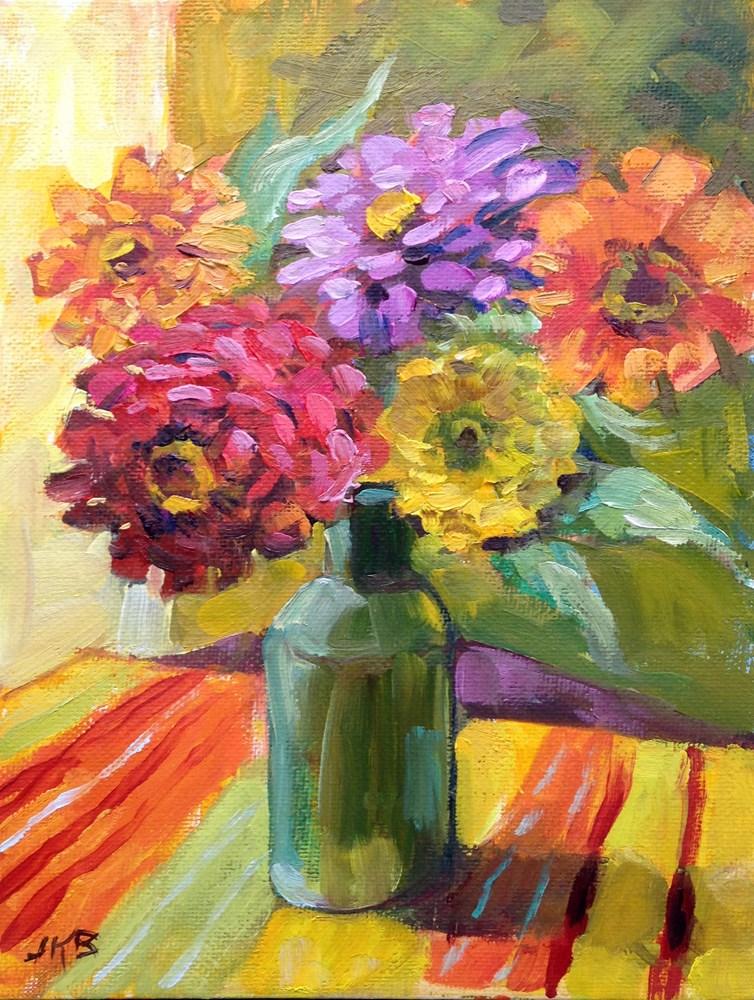 """""""Flower Power"""" original fine art by Jeanne Bruneau"""