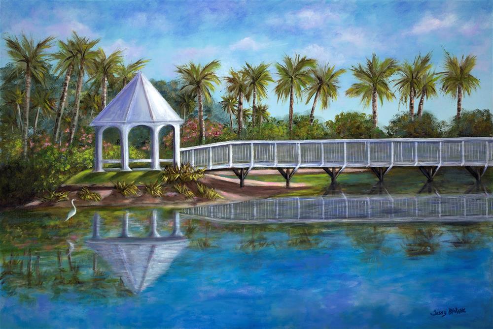 """Boca Grande Gazebo"" original fine art by Sissy Blakslee"