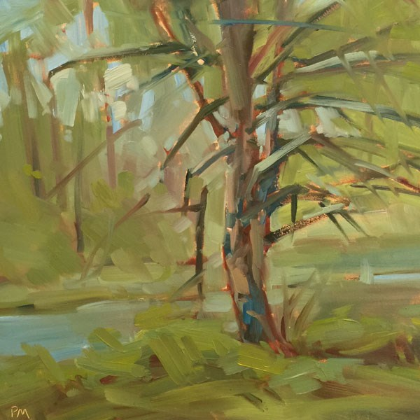 """Golden Greens at Whiteley Landing"" original fine art by Patti McNutt"