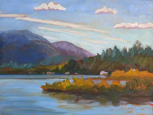 """Adirondack Boat Tour"" original fine art by Lucinda Howe"
