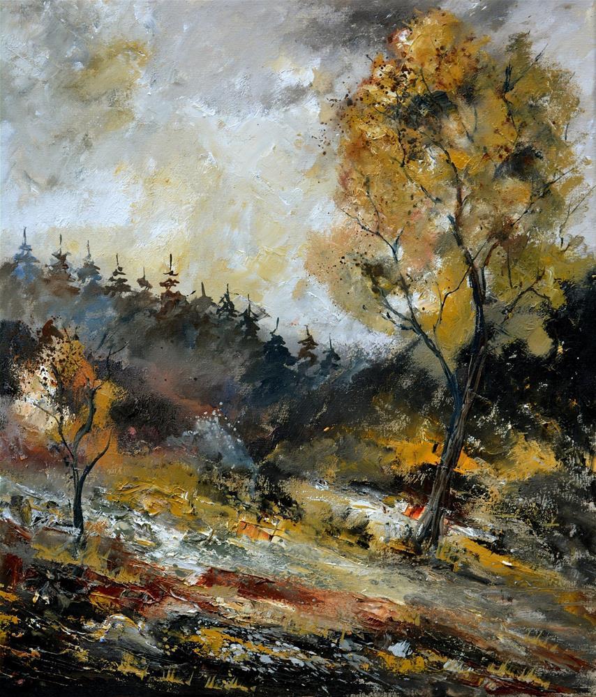 """in the wood  676160"" original fine art by Pol Ledent"