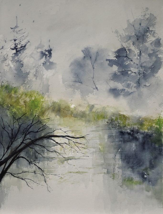 """""""watercolor 412132"""" original fine art by Pol Ledent"""
