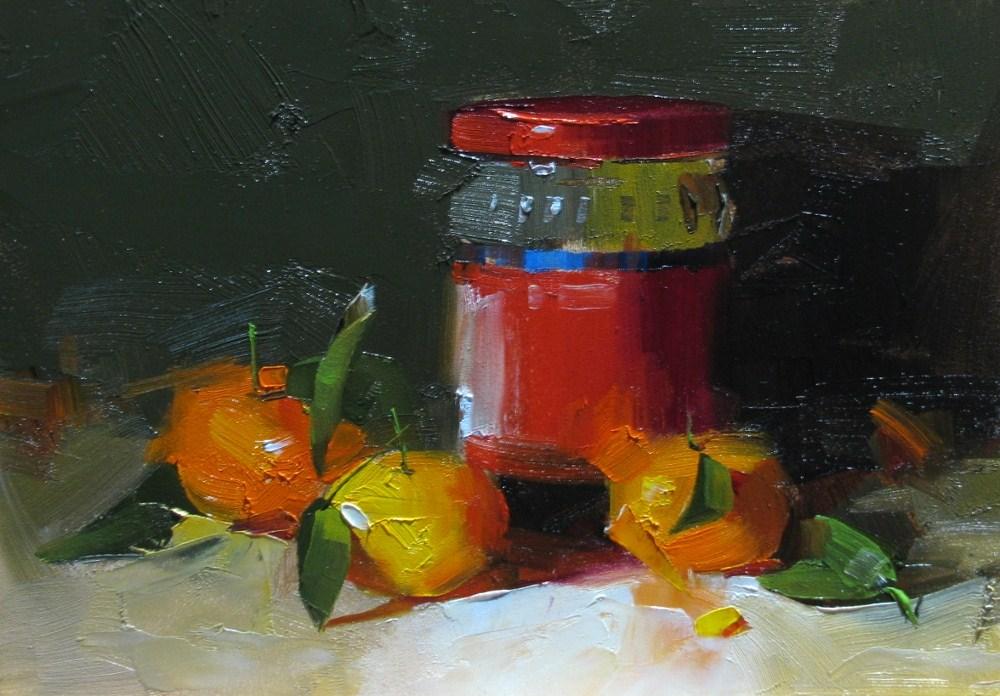 """Beijing Tangerines"" original fine art by Qiang Huang"