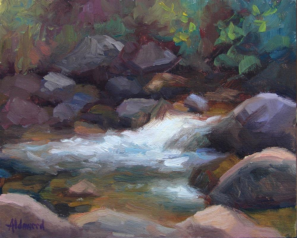 """Canyon Creek Afternoon"" original fine art by Sherri Aldawood"