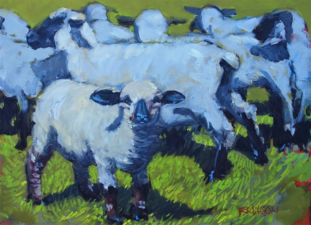 """Dar's lamb"" original fine art by Rick Nilson"