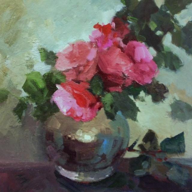 """June roses"" original fine art by Parastoo Ganjei"
