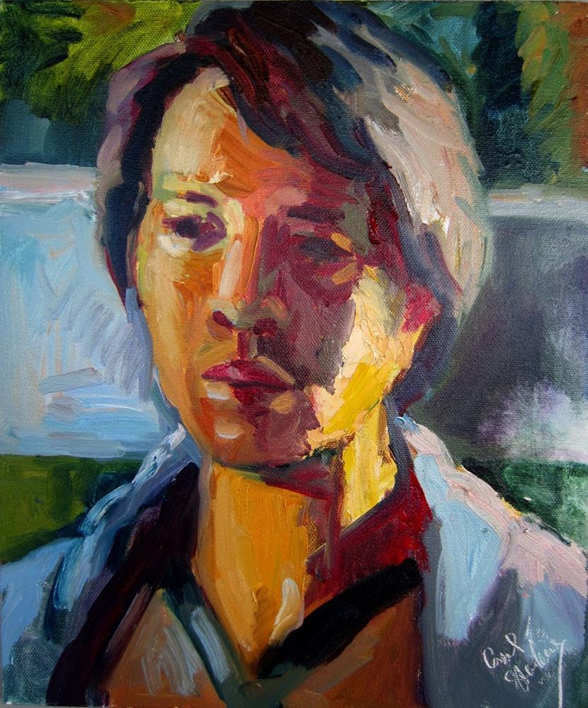 """Bert. January Afternoon Light"" original fine art by Carol Steinberg"