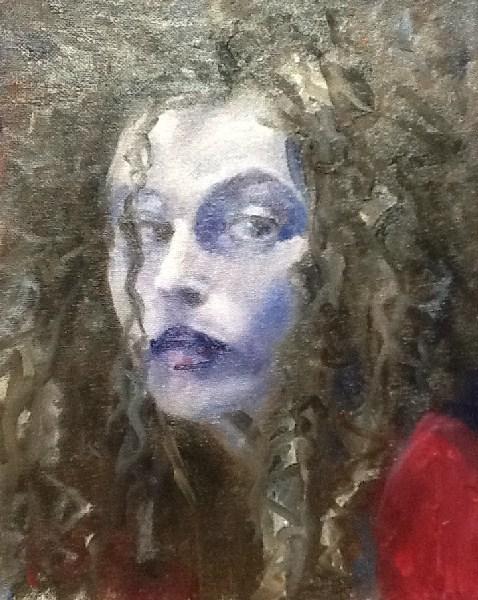 """Bad Hair Day"" original fine art by Peggy Schumm"
