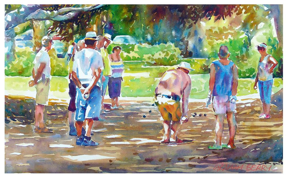 """Boules"" original fine art by Graham Berry"