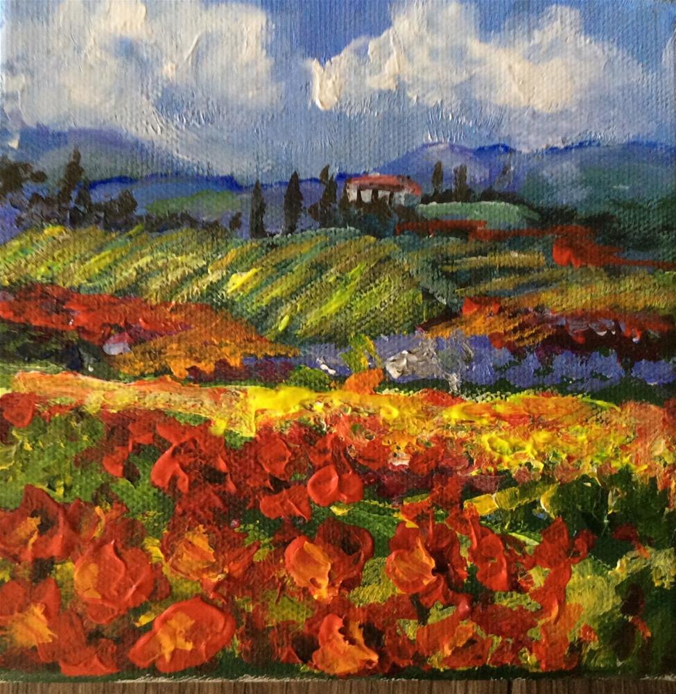 """""""Tuscany hills"""" original fine art by Sonia von Walter"""
