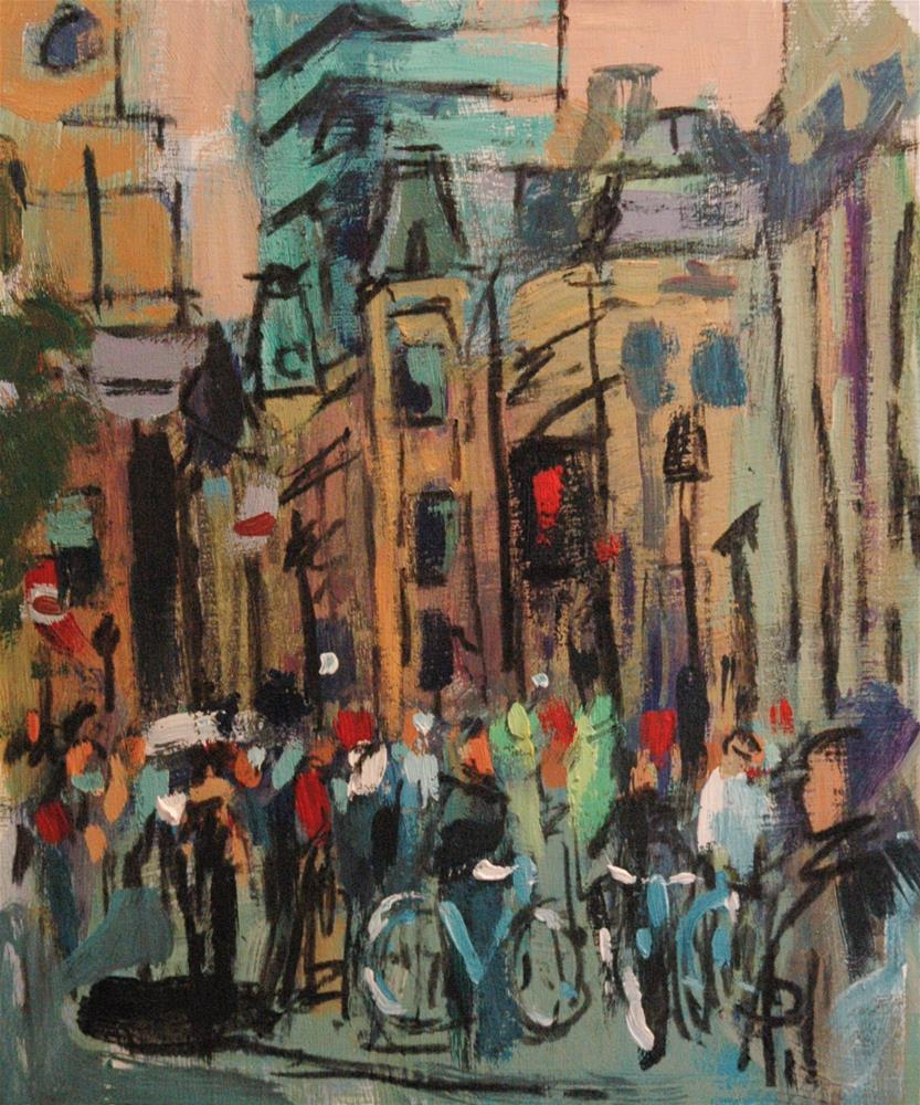 """Trafalgar Square (with Bicycles)"" original fine art by Andre Pallat"