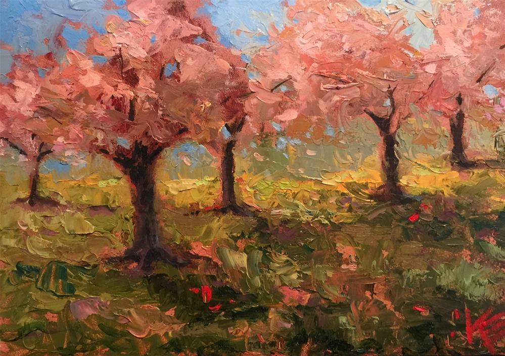 """Blossoms in Springtime"" original fine art by Krista Eaton"