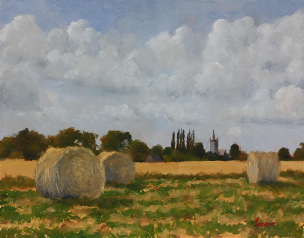 """Harvest"" original fine art by Graham Townsend"