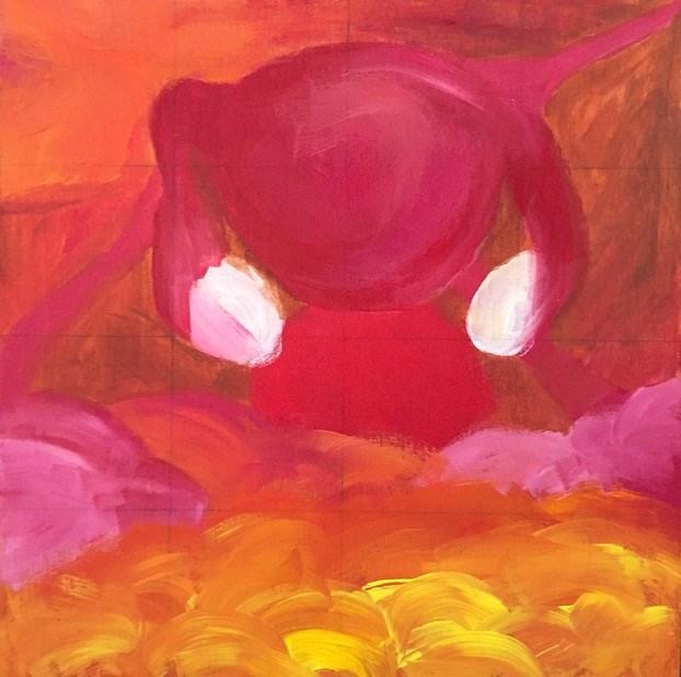 """""""Ovary Acting"""" original fine art by Madeleine Hoffmeister"""
