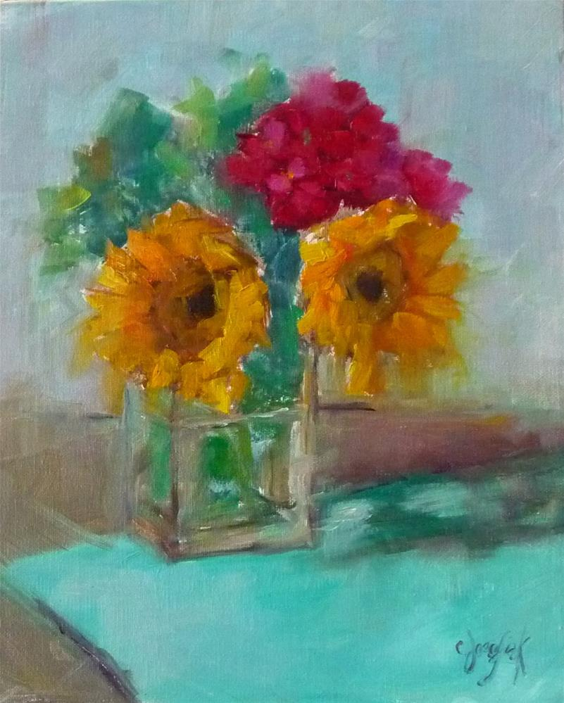 """Summer Bouquest #2"" original fine art by Carol Josefiak"