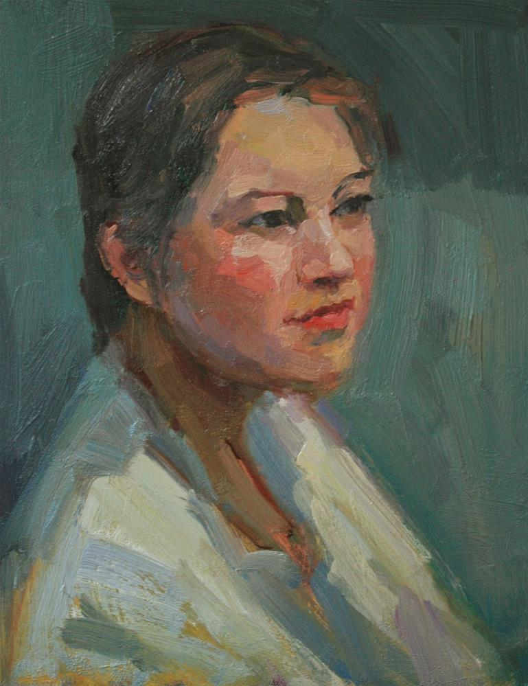 """Portrait Study #9"" original fine art by Kathryn Townsend"