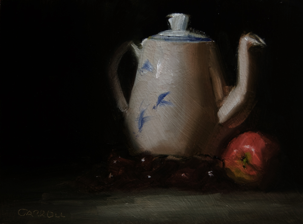 """White Teapot"" original fine art by Neil Carroll"