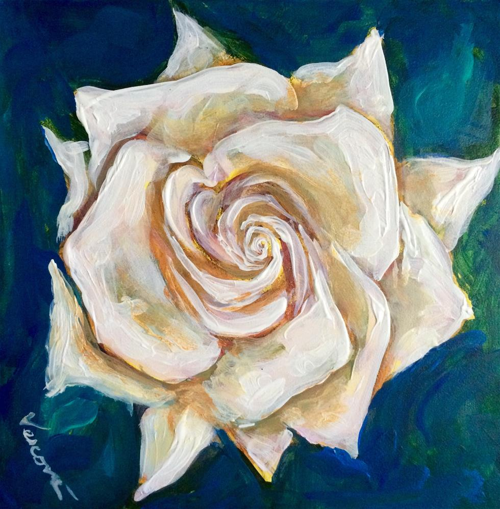 """Rose 1"" original fine art by Valerie Vescovi"