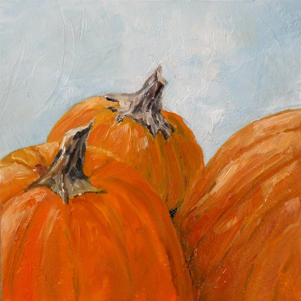 """PUNKINS ORIGINAL 4X4 OIL ON PANEL © SAUNDRA LANE GALLOWAY"" original fine art by Saundra Lane Galloway"