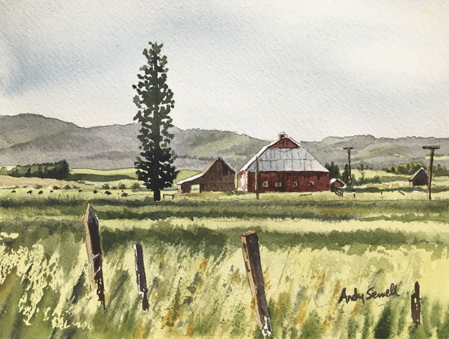 """Little bit o country"" original fine art by Andy Sewell"