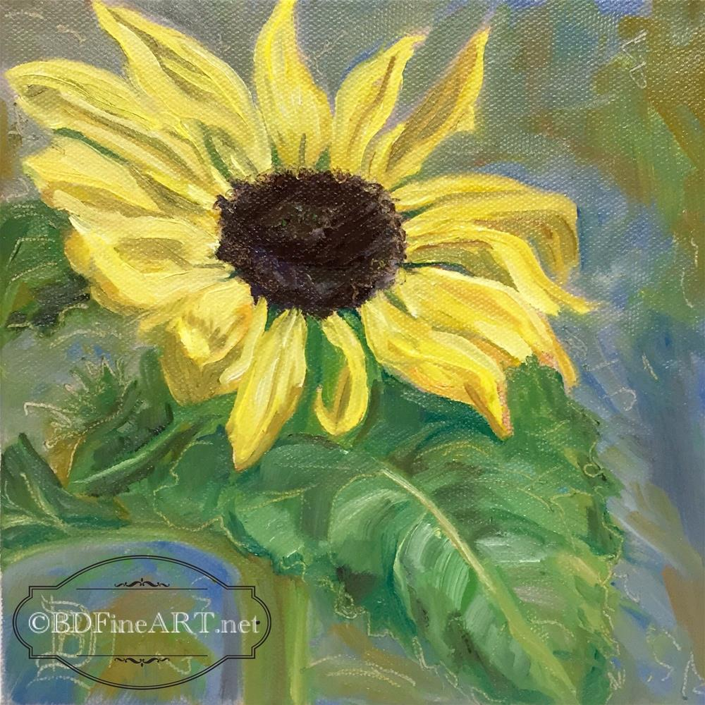"""#2 Sunflower"" original fine art by Bobbie Deuell"