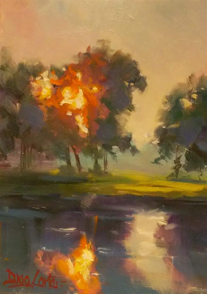 """WATER A FIRE"" original fine art by Doug Carter"
