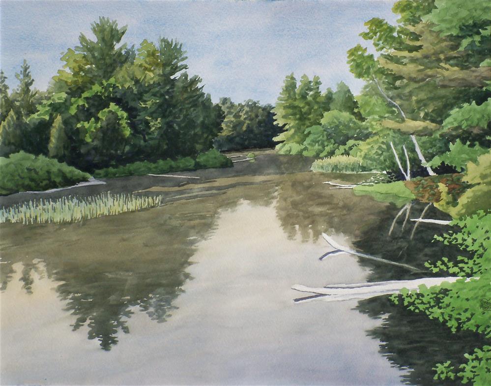 """""""Crystal River I"""" original fine art by Greg Arens"""