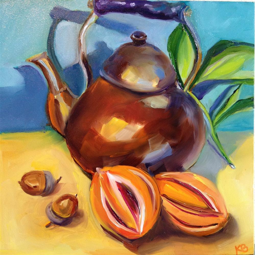 """Copper Tea Pot"" original fine art by Kim Boyer"