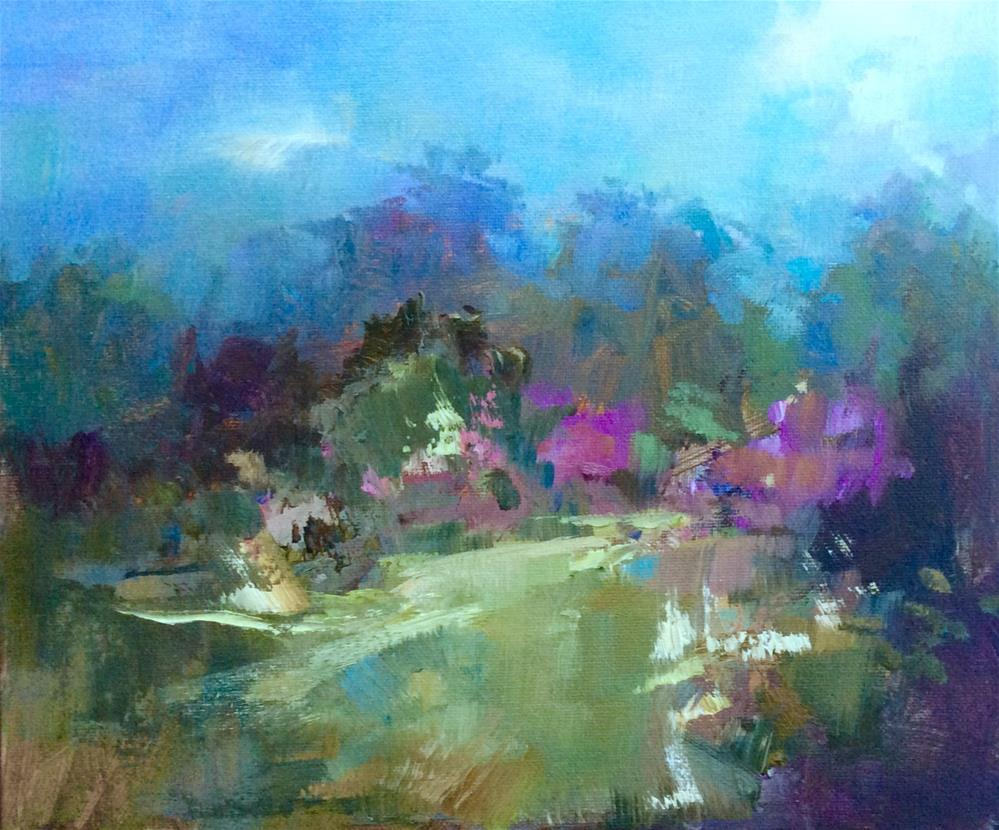 """September Garden"" original fine art by Anne Wood"