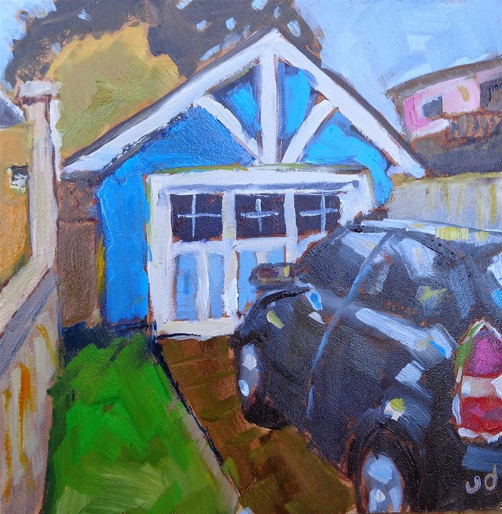 """Parked"" original fine art by Jean Delaney"