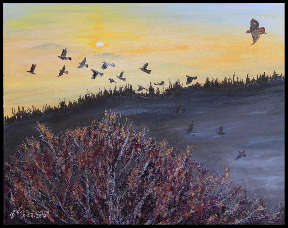 """The Last Sunrise - Panel 2 of 3"" original fine art by Captain B Smith"
