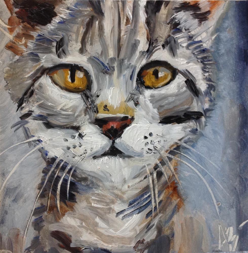 """""""Feline"""" original fine art by Annette Balesteri"""