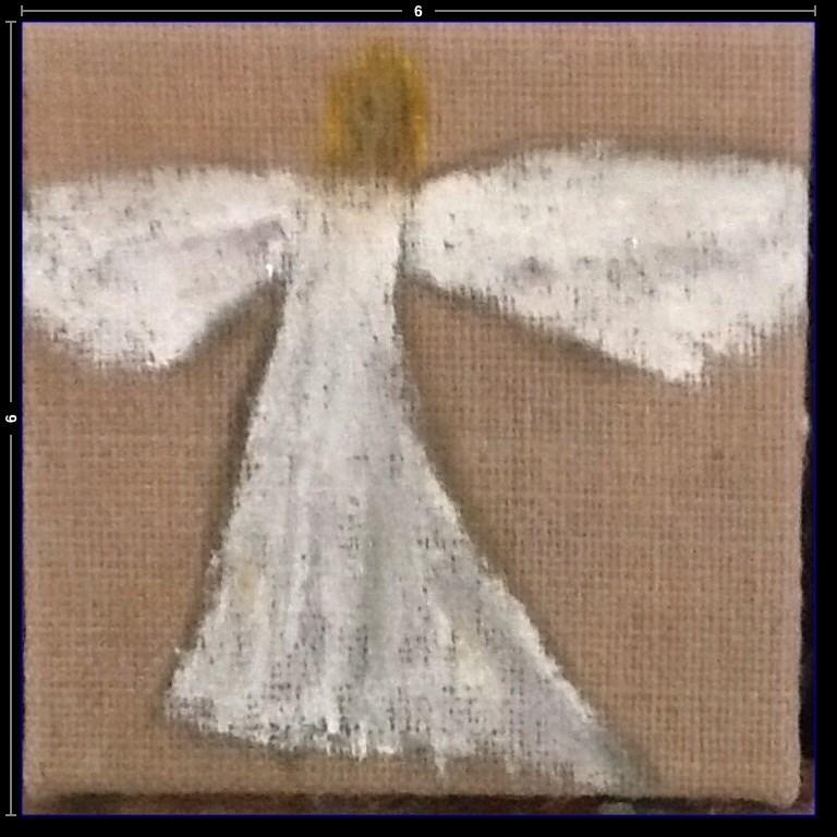 """Herald Angel"" original fine art by Charlotte Bankhead Hedrick"