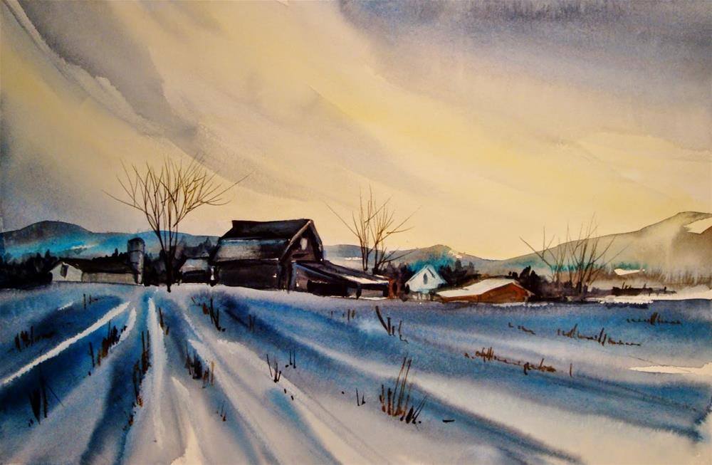 """Snow Demo II"" original fine art by Kathy Los-Rathburn"