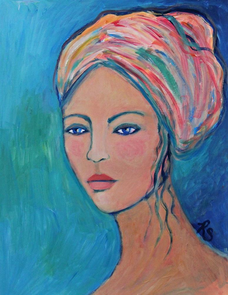 """Genevieve"" original fine art by Roberta Schmidt"