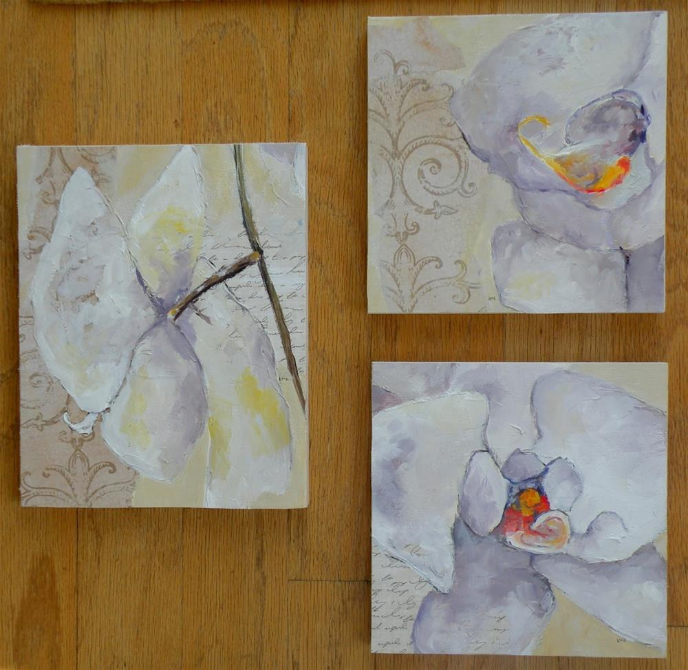 """ORCHID TRIO © SAUNDRA LANE GALLOWAY; OUT WITH THE OLD, IN WITH THE NEW!"" original fine art by Saundra Lane Galloway"