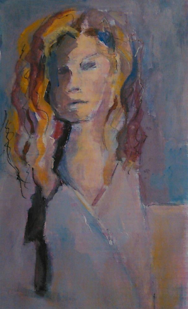 """Window Girl 2"" original fine art by Ann Rudd"